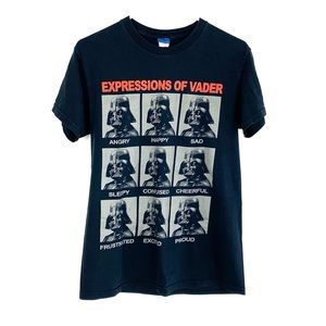 Star Wars Expressions Of Vader Black Graphic Tee